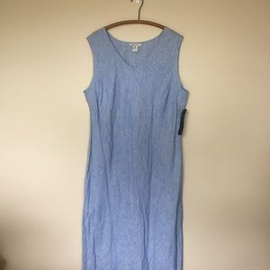 KAREN KANE Linen Blues Long Bias Dress 3X NWT